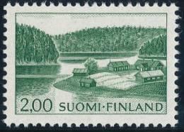 FINLAND 1974, M-63 Definitive PHOSPHOR Farm By Lake 2,00 BoQ** - Finlandia
