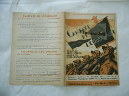 WW2 SPARTITO MUSICALE CANTATE DI LEGIONARI M.V.S.N.ME NE FREGO STARACE.. - Musica & Strumenti