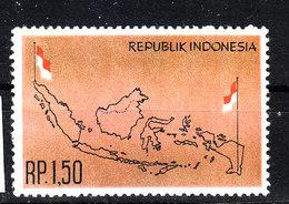 Indonesia - 1963. Carta Geografica Delle Isole Indonesiane. Map Of The Indonesian Islands. MNH - Geografia