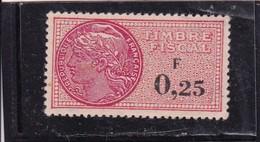 T.F.S.U N°349 Neuf - Revenue Stamps