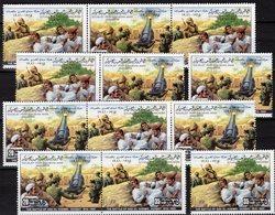 Varianten Kampf In Der Wüste Libya 893/4+4x ZD ** 7€ Schlacht 1981 Von Sidi El-Khemri Bloque Bloc Se-tenants Bf LAR - Libye