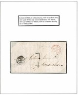 JERSEY 1850 FRANCE ILES-C ST MALO IN BLACK MARITIME SCARCE - Jersey