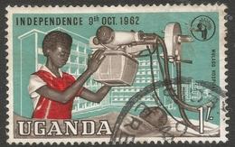 Uganda. 1962-64 Independence. 1/- Used. SG 105 - Uganda (1962-...)