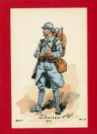UNIFORME INFANTERIE 1917 POILU CARTE COLORISEE EN BON ETAT DESSIN TOUSSAINT MAURICE - Uniformen