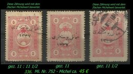 EARLY OTTOMAN SPECIALIZED FOR SPECIALIST, SEE...Mi. Nr. 752 - Mayo 111  - 2 Zähnungen - 1920-21 Anatolie