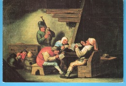 """Oudenaarde-Stadsmuseum-A. Brouwer (Oud.-1604-Antwerpen-1638)Tijdgenoot Van P.P.Rubens-""""Het Gehoor""""-joueur De Cornemuse - Oudenaarde"""