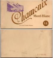 CPA 74 Haute-Savoie Chamonix Lot 20 Cartes Bromure Et Une Page Plan Mont Blanc Bromure Lévy Et Neurdein Réunis - Chamonix-Mont-Blanc