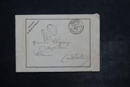 FRANCE - Document De La Faculté De Droit De Rennes Pour Dinan En 1878 , Taxe 40 Double Traits - L 26520 - Postmark Collection (Covers)
