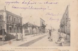 CPA ALGERIE GUYOTVILLE LES POSTES ET TELEGRAPHES GRAND'RUE - Other Cities