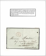 JERSEY FRANCE MARITIME OUTRE MER INVERT 1839 ST MALO LAVAL - Jersey