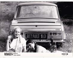 PHOTOGRAPHIE 18 X 24 RENAULT 10 (1970) + Côtes + Caractéristiques (4 Pages) Document Régie Renault 3 Scans - Automobiles