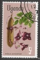 Uganda. 1969 Flowers. 5/- Used. SG 143a - Uganda (1962-...)