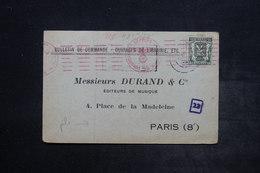 BELGIQUE - Carte Commerciale De Liège Pour Paris Avec Contrôle Postal Allemand - L 26523 - Belgium
