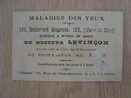 CARTE DE VISITE DOCTEUR LEVINCON - Cartes De Visite