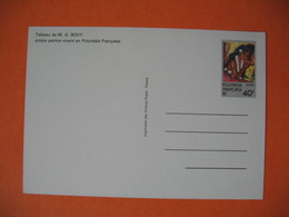 Entier Postal Polynésie Française 1984 N°1CP Tableau De M. G. Bovy Artiste Vivant En Polynésie à Voir - Postwaardestukken