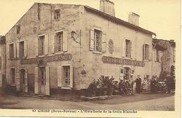 79- Deux Sèvres - Chizé - L'hotellerie De La Croix Blanche Animée - Editeur Cl. Ch. Touchon - Parfait état - Otros Municipios