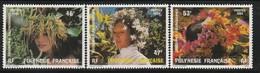 POLYNESIE - N°219/221 ** (1984) Couronnes De Fleurs - Französisch-Polynesien