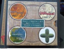 Coffret Hugues De Courson (neuf):Mozart L'égyptien 1 & 2-Bach L'africain-Vivaldi L'irlandais/ ERATO - Klassik