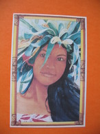 """Polynésie Française - Artistes Peintures En Polynésie  Maryse Noguier """" Vahiné à La Couronne De Auti  à Voir - Polinesia Francese"""