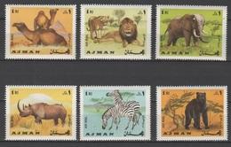 Ajman 1969 Mi 412-417 Mammals / Säugetiere **/MNH - Ours