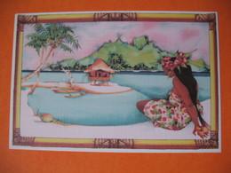"Polynésie Française - Artistes Peintures En Polynésie  Titi Bécaud "" Vahine ""  à Voir - Polinesia Francese"