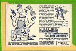 Buvard & Blotting Paper : Le Bon Miel RENE CHAUSSEBOURG  Les Animaux L'OURS (Buvard Ancien ) - Sucreries & Gâteaux