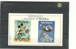 TOPOLINO  2  FRANCOBOLLI  TURKS E  CAICOS  IS. DISNEY - Disney