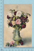 Carte Postale CPA -Bouquet De Roses- Used Voyagé En 1914 + CND Stamp, Send To Smith Mills Quebec - Cartes Postales