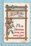 Carte Postale CPA -Christmas- Used Voyagé En ? + USA Stamp, Send To Brookbury Quebec - Christmas
