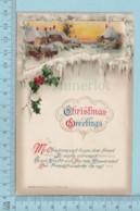 Carte Postale CPA -Christmas, Par John Winsch- Used Voyagé En1914 + USA Stamp, Send To SaWyerville Quebec - Noël