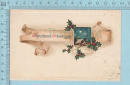 Carte Postale CPA -Christmas, - Used Voyagé En1914 + USA Stamp, Send To St-Johnsbury - Noël