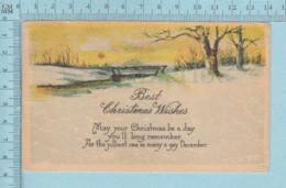 Carte Postale CPA -Christmas, - Used Voyagé En1916 + USA Stamp, Send To Dismont Maine - Noël