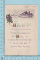 Carte Postale CPA -Christmas, - Used Voyagé En 1914 + USA Stamp, Send To West Appleton Maine - Noël