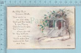 Carte Postale CPA -Christmas, - Used Voyagé En 1921 + USA Stamp, Send To Newbury V.T. - Noël