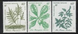 POLYNESIE - N° 268/70 ** (1986) Plantes Médicinales - Neufs