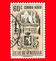 VENEZUELA - Usato - 1951 - Stemma Dello Stato Di Caracas - Arms - 60 - P. Aerea - Venezuela