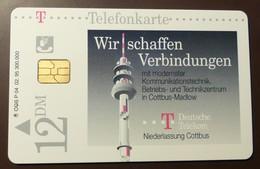 P 04 02.95 Mint Voll Wir Schaffen Verbindungen Cottbus  #TK1 - Allemagne
