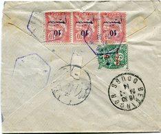 MAROC LETTRE RECOMMANDEE TROUPE D'OCCUPATION DU MAROC OCCIDENTAL AVEC AFFRANCHISSEMENT AU DOS DEPART.................... - Morocco (1891-1956)