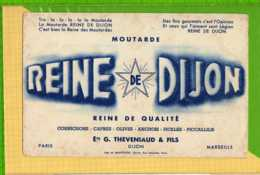Buvard & Blotting Paper : Moutarde REINE De DIJON - Mostaza