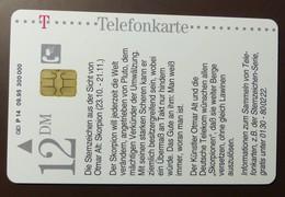 P 14 09.95 12 DM  Mint Voll   Otmar Alt Skorpion   #TK5 - Allemagne