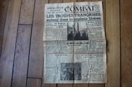 Combat  Edition De 5 H Paris Liberée Original  25 Aout 1944 - 1939-45