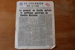 Tract Aerien Le Courrier De L'air  Edition Speciale  Londres Mars 1944 - 1939-45