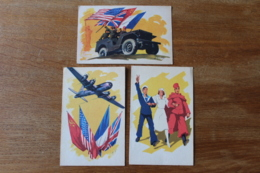 3 Cpa WWII   De La Liberation  Les Alliés - Guerra 1939-45