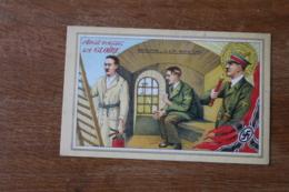Cpa WWII   Ainsi Passe La Gloire Adolphe Il Est Moins Cinq     Anti Nazi - Guerra 1939-45