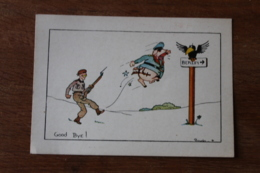 Cpa WWII Good Bye Directio Berlin      Anti Nazi - Guerra 1939-45