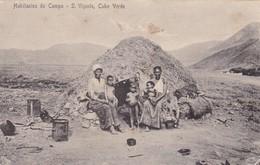 HABITANTES DO CAMPO. S. VIÇENT. CABO VERDE. BAZAR CENRAL MINIATI & FRUSONI. CPA CIRCA 1900s ETHNIC - BLEUP - Cap Vert