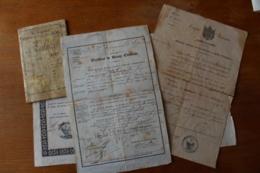 Ensemble D'un Soldat Du Second Empire Diplome Medaille , Livret , Certificat   Napoleon III - Documentos Históricos