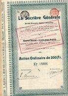 La Sucrière Générale - Actions & Titres