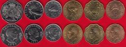Tanzania Set Of 6 Coins: 5 Senti - 5 Shillingi 1976-1993 UNC - Tanzanie