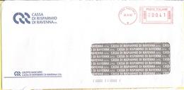 ITALIA - ITALY - ITALIE - 2002 - 00,41 EMA, Red Cancel - Casa Risparmio Ravenna - Viaggiata Da Ravenna - Affrancature Meccaniche Rosse (EMA)